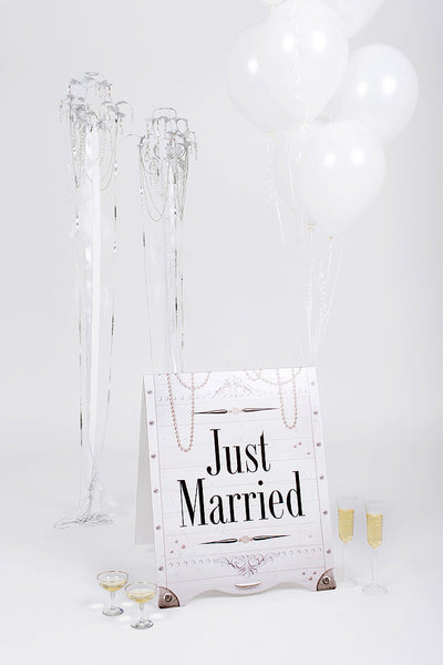 Wedding Sandwich Board White Classic
