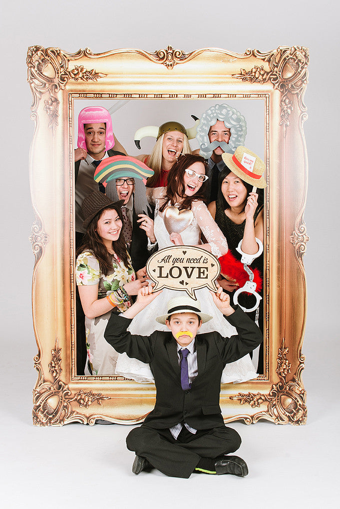 Wedding Party Photobooth Frame Gold