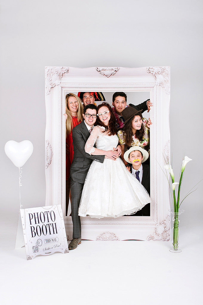 Wedding Party Photobooth Frame Classic White