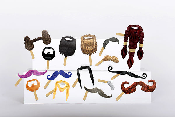 Beard and Moustache Photo Prop