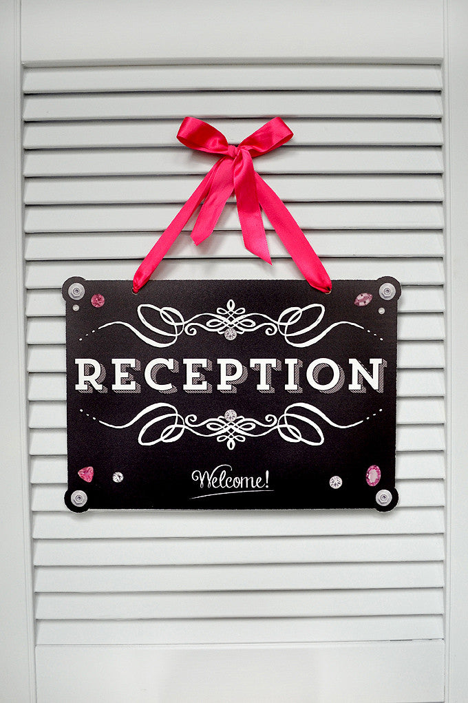 Wedding Sign Reception Chalkboard