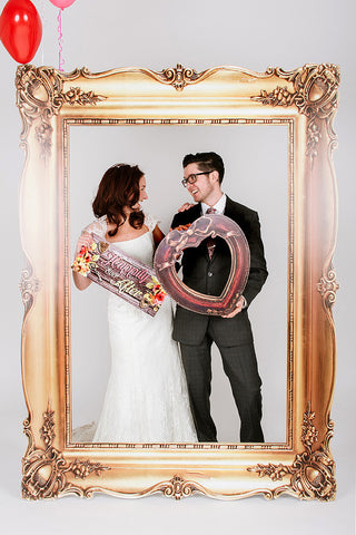 wedding photobooth frame gold