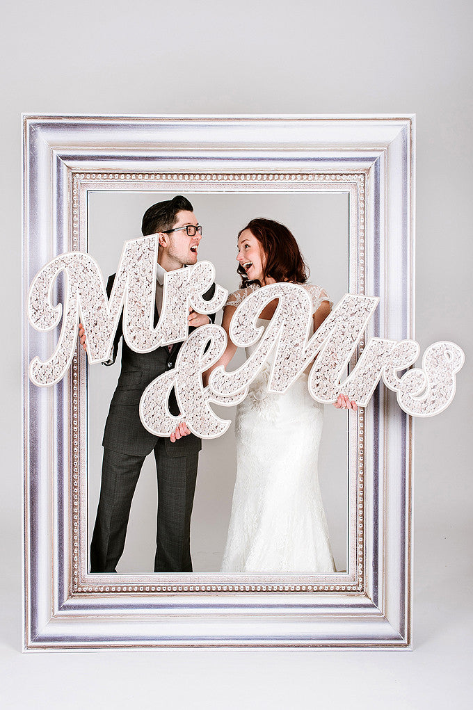 Wedding Mr & Mrs Letters Photobooth