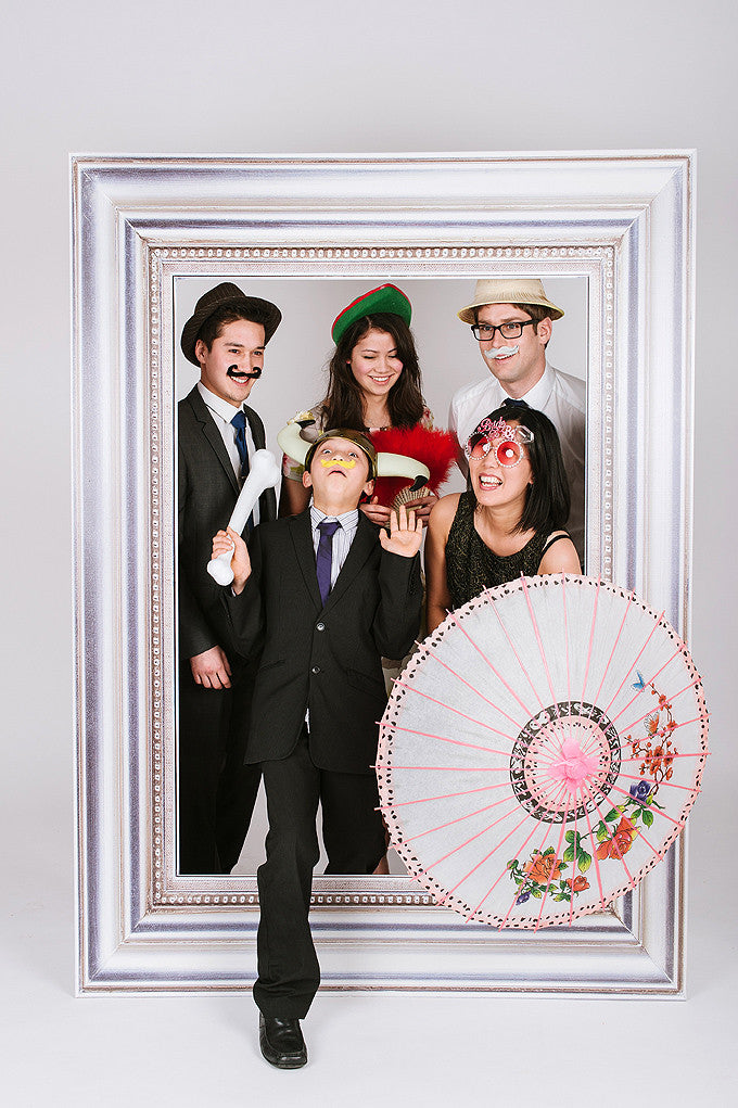 Wedding Fun Photobooth Frame Silver