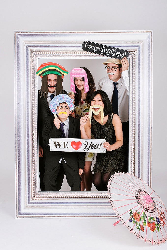 Wedding Funny Photobooth Frame Silver