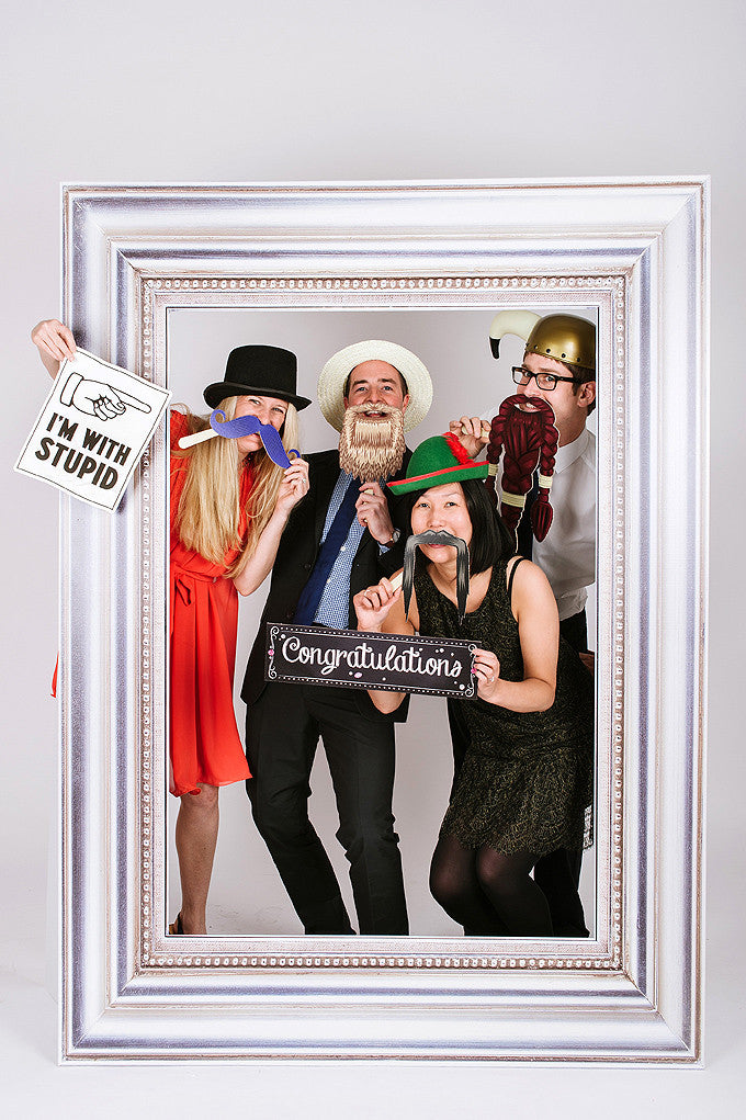 Wedding Party Photobooth Frame Silver