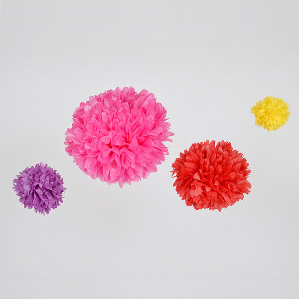 Paper pom poms wedding and party decoration