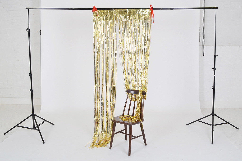 Foil backdrop curtain