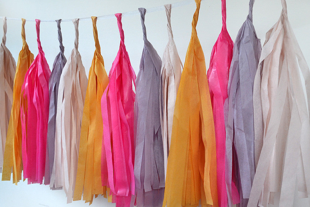 Tissue Paper Tassel - Fashion of the moment