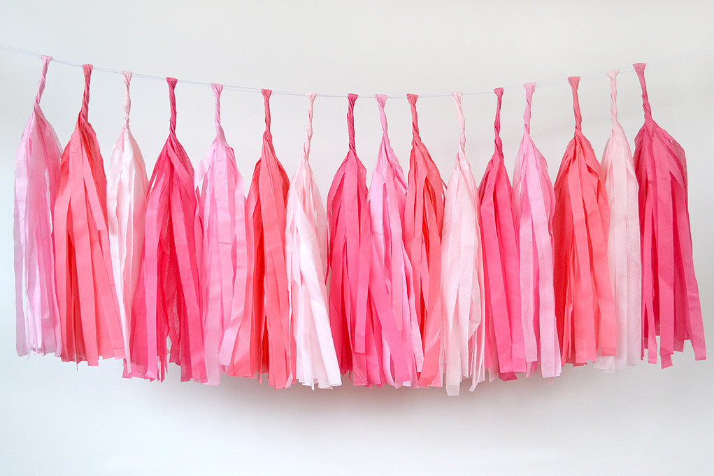 Tissue Paper Tassel - pink ombre