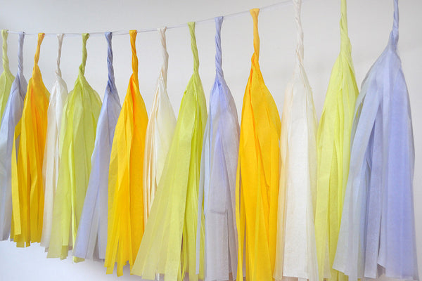 Tissue Paper Tassel - Sunshine Yellow