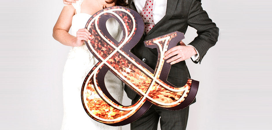 Theatrical wedding prop ampersand