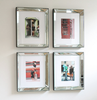 mirrored frames are great at adding a certain flair and charm to a room and are the ideal way to display your photographs or artwork
