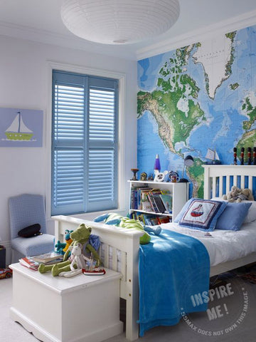 Map Wallpaper for Kids Bedroom from 55MAX