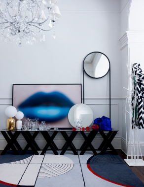 Blue Lips feature in Living Etc Magazine with 55MAX