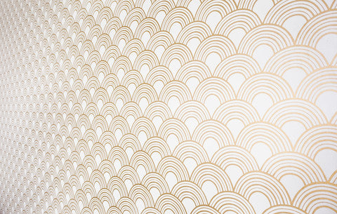 Gatsby Gold Metallic Wallpaper, an exclusive design from 55MAX