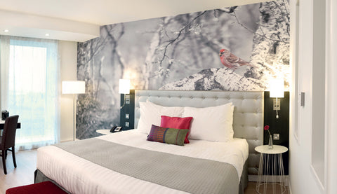 Raddison Blu Hotel Bedroom Wallpaper Design from 55MAX