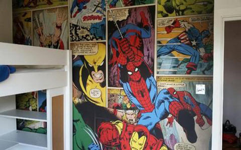 Bespoke Comic Wallpaper Designs from 55MAX