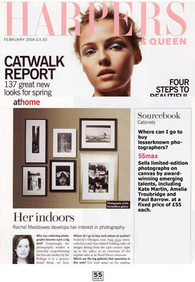 Harpers Magazine front Cover featuring 55MAX's Affordable Art Work