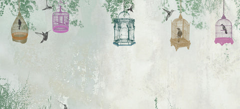 Bespoke Birdcage Wallpaper For A Kids Playroom In Private Residence Is The Perfect Colour Scheme Fun And Playful