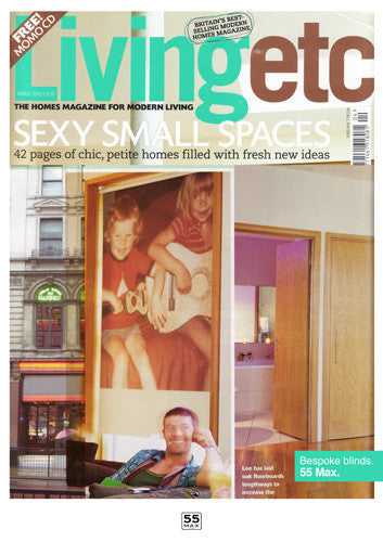 Living Etc Magazine Cover featuring 55MAX