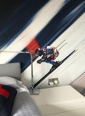 Ski Wallpaper at a Private Residence from 55MAX