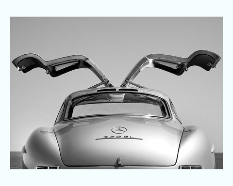 Black Framed 1956 Mercedes Benz 300 Sl Art Print