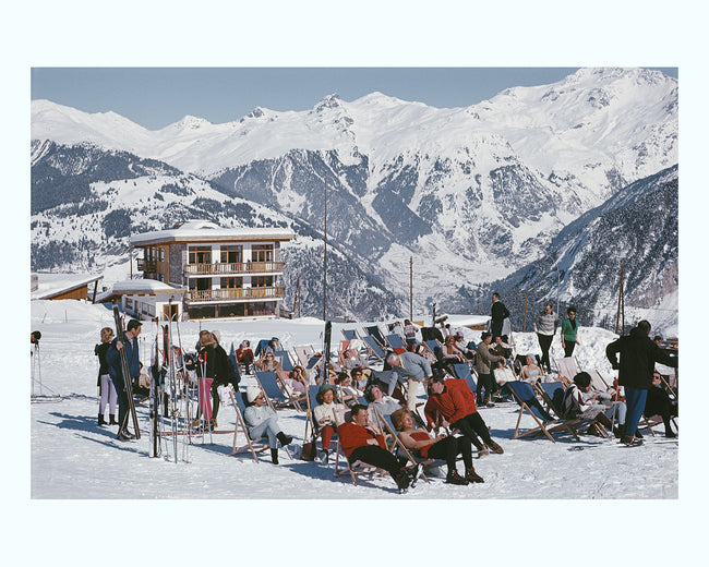 A Ski Resort in Courchevel, 1970 Art Print