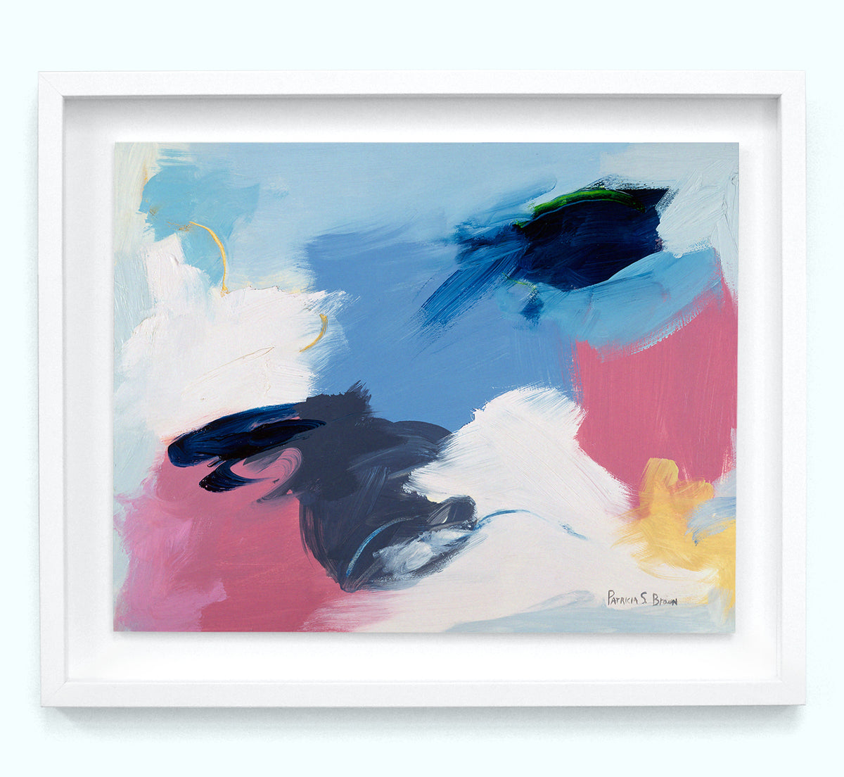 Abstract Pink and Blue Art Print