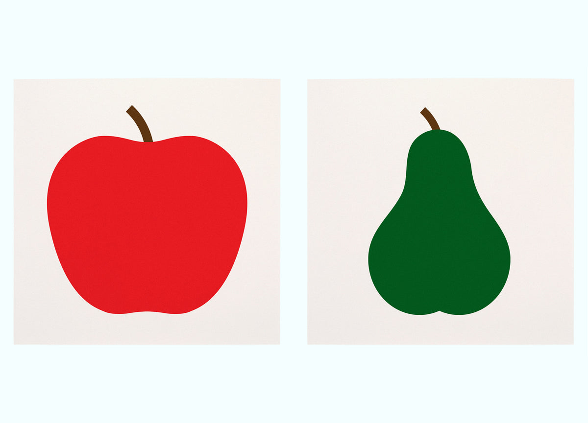 Apple & Pear Art Print Set