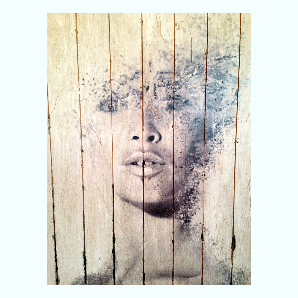 Bardot On Wood Art Print