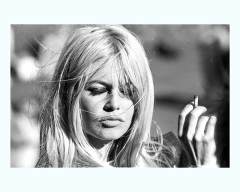 Bardot on the Beach Art Print