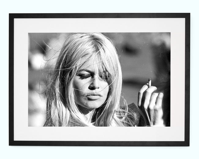 Bardot Smoking Art Print