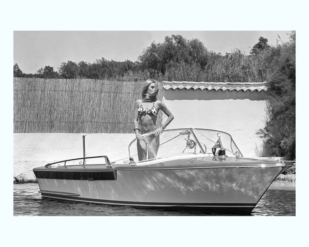 Bardot on Speed Boat, St Tropez Art Print