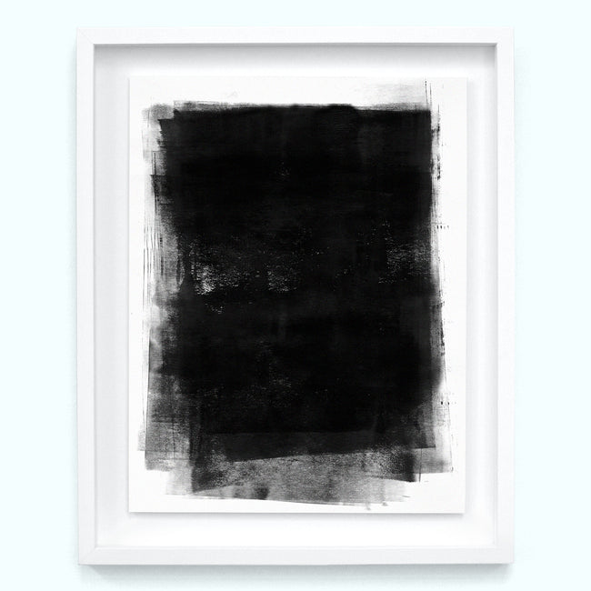 Black Charcoal Overlap Art Print