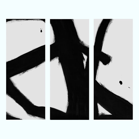 Black and White Marble Art Print Triptych