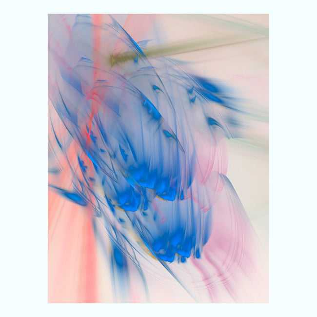 Blue & Pink Abstract Art Print
