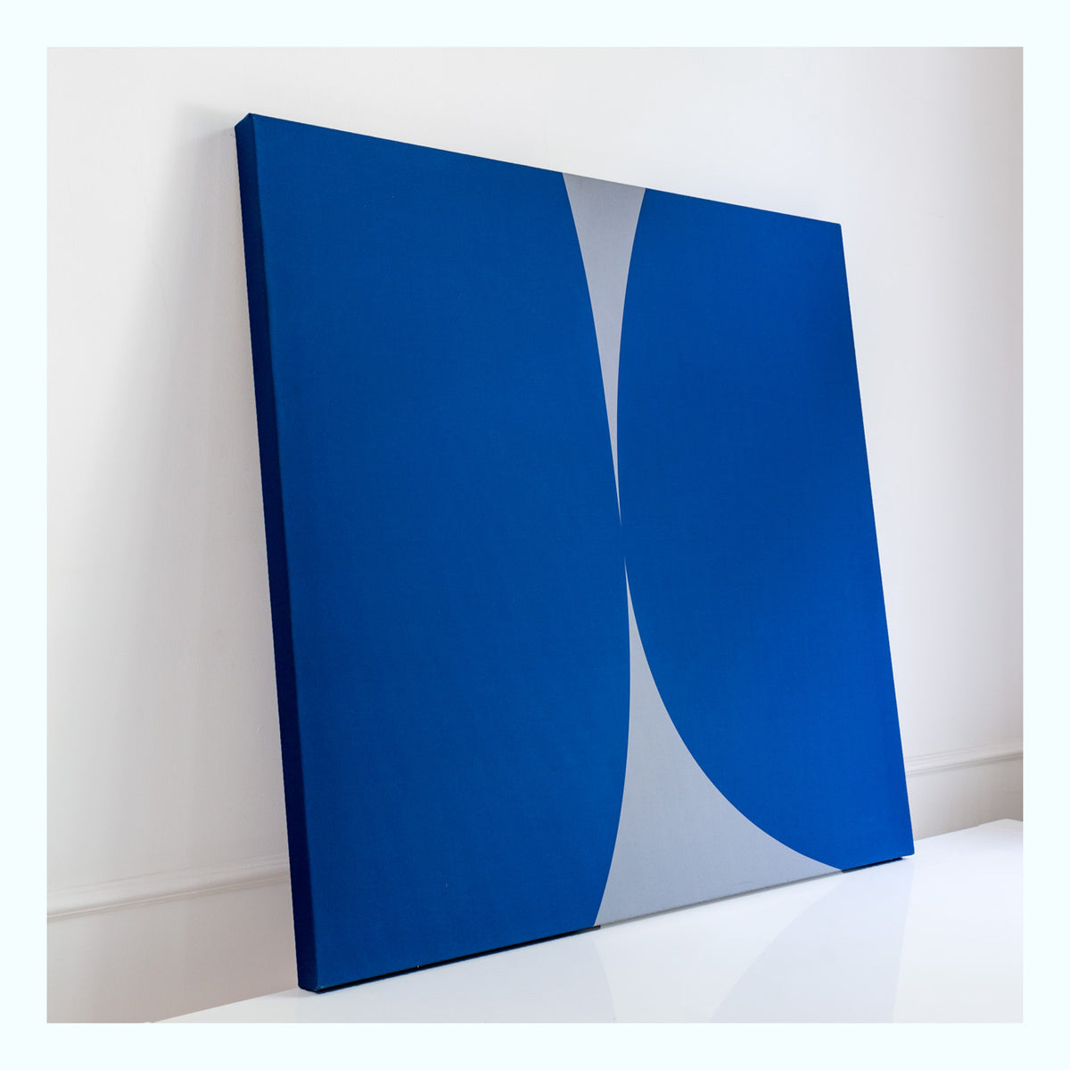 Blue, White Abstract Art Print