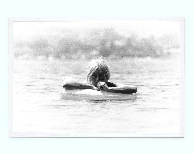 Brigitte Bardot at Sea Art Print