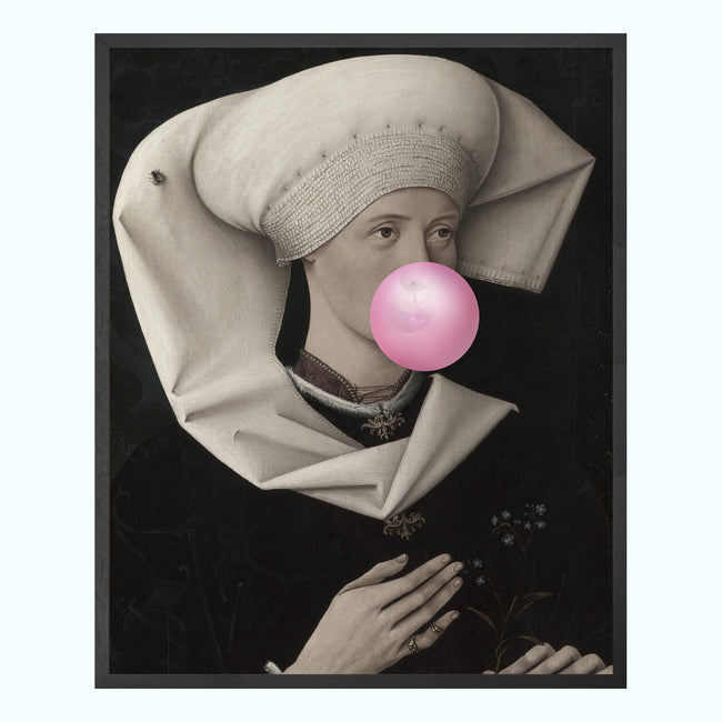 Bubblegum Portrait 2 Art Print
