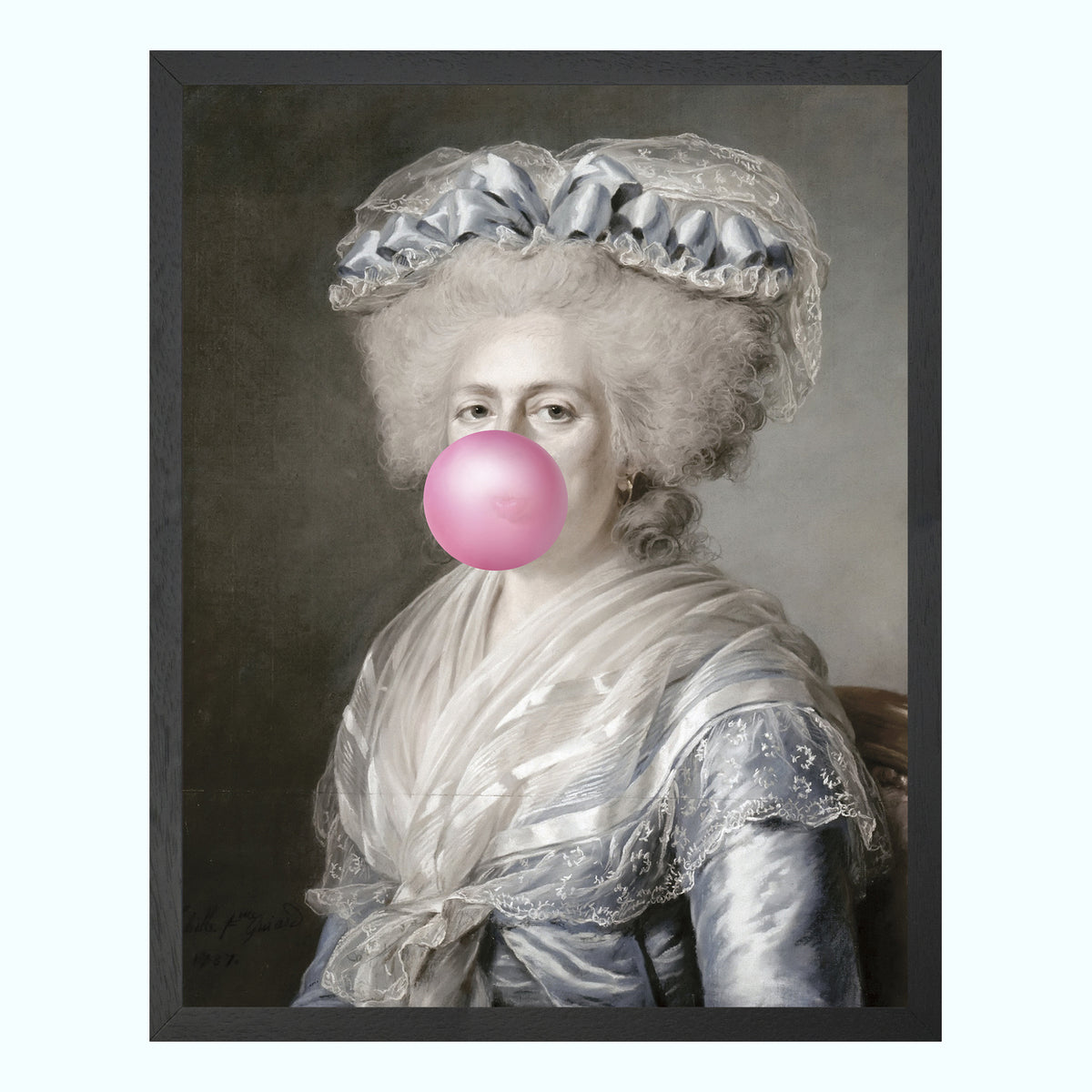 Bubblegum Portrait 4 Art Print