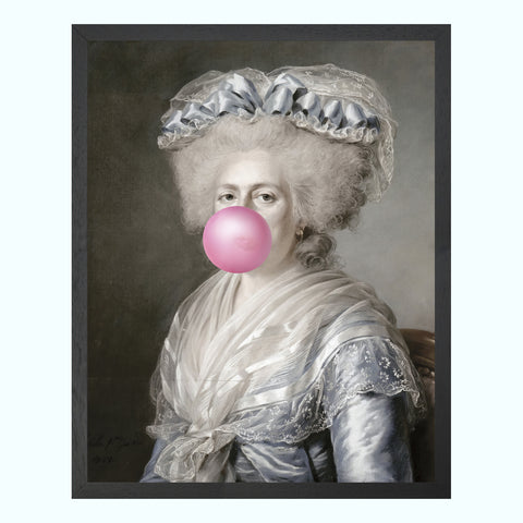 Bubblegum Portrait 3 Art Print