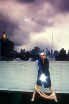 Debbie Harry On the Roof Art Print