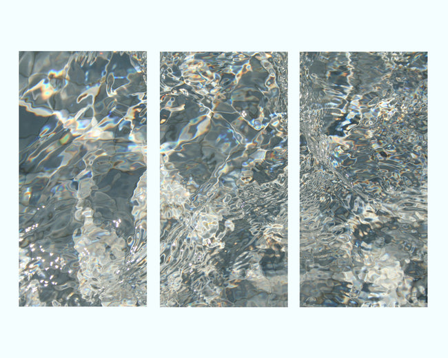 Deep in Water Art Print Triptych