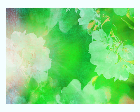 Green Abstract Water Art Print Set
