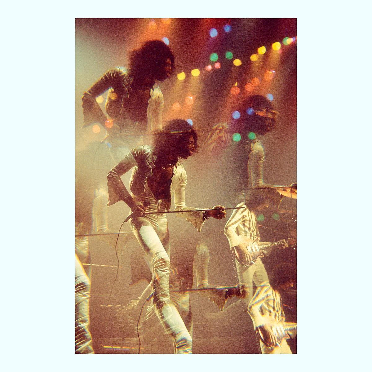 Freddie Mercury of Queen at the Rainbow Theatre Art Print