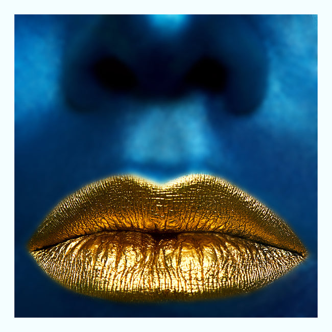 Gold Lips Art Print