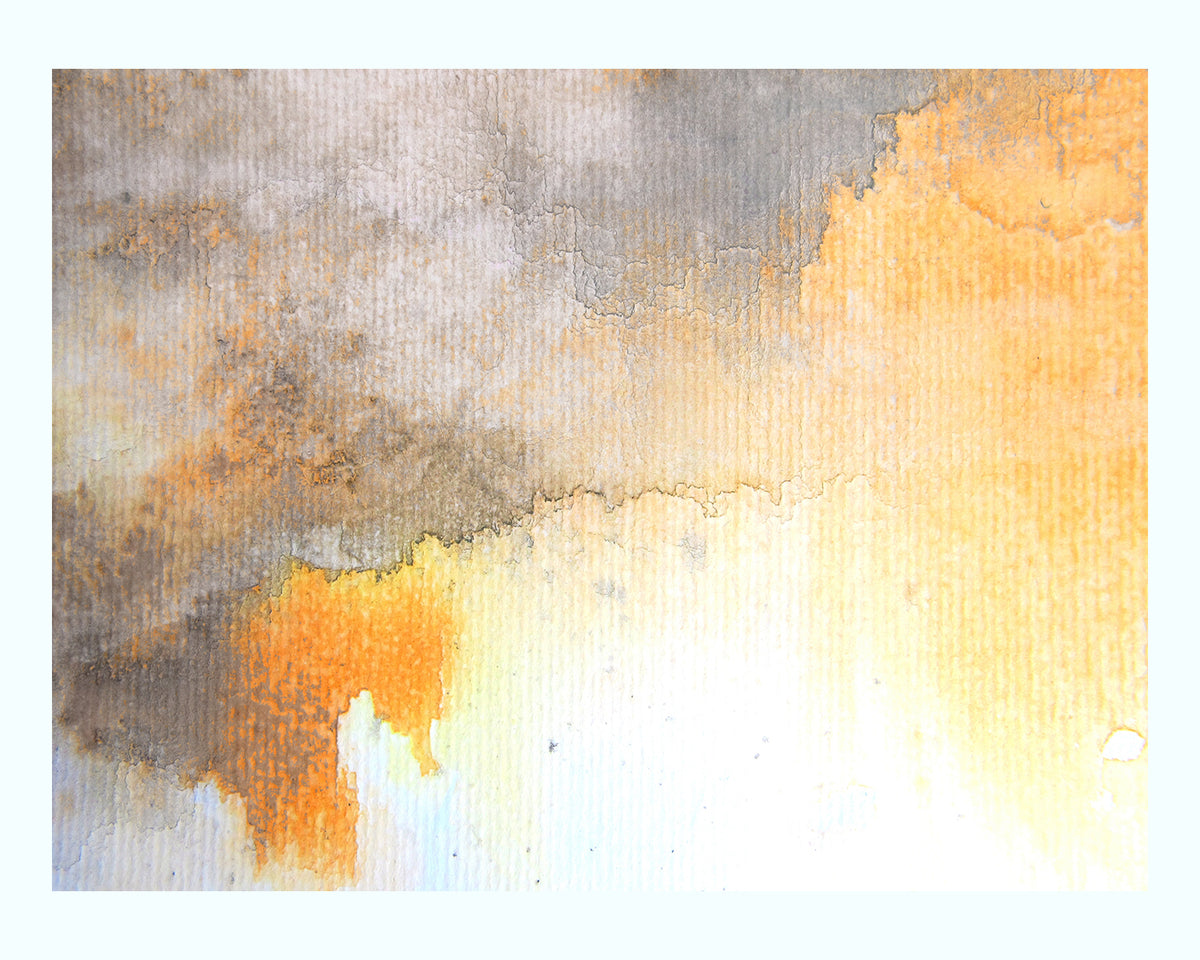 Gold & Grey Watercolour Art Print