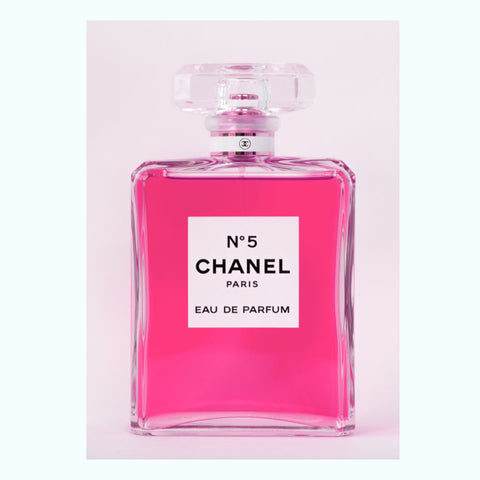 """I Only Wear Chanel No.5"" (Pink) Art Print"