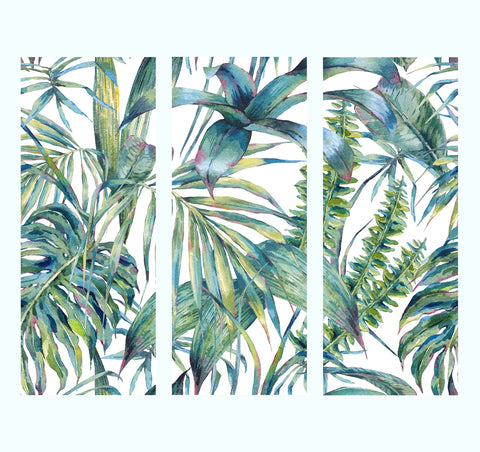 Watercolour Palm Leaf Art Print Set